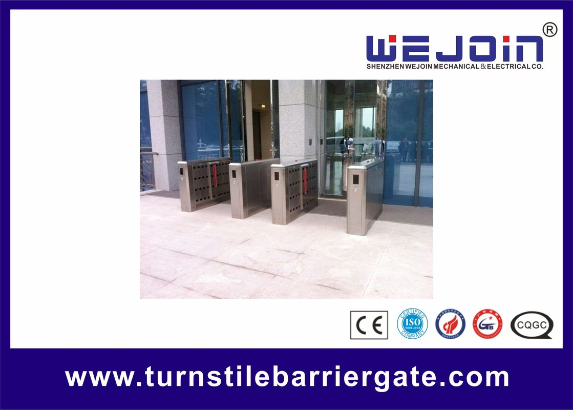 110V Stainless Steel Full-automatical Flap Barrier Gate With Auti-collision function proveedor