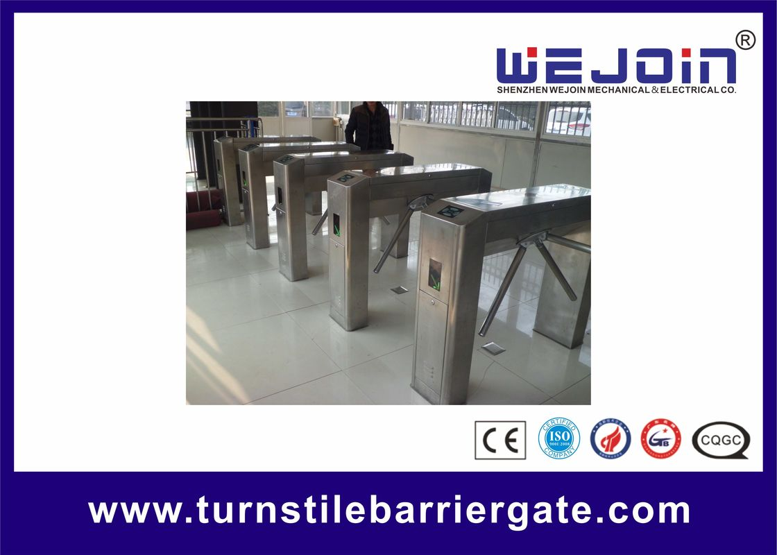 Stainless Steel Housing Automatic Tripod Turnstile Gate With Traffice Light Indicator proveedor